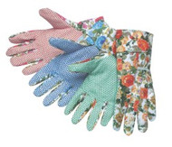 Plain floral print with big PVC dots on palm, index finger and thumb - band top