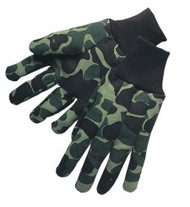 Heavy green camouflage jersey - men's