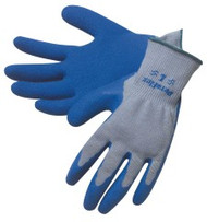 """DURA FLEX"" 10 gauge, gray shell, blue latex dip palm/fingertips - S-XL"