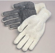 Natural white - black PVC dots on one side - ladies'