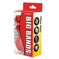 Big Bands Rubber Bands, 7 x 1/8, Red, 48/Pack