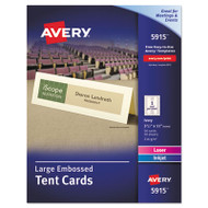 Large Embossed Tent Card, Ivory, 3 1/2 x 11, 1 Card/Sheet, 50/Box