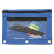Binder Pouch with PVC Pocket, 9 1/2 x 7, Blue, 6/Pack
