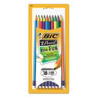 #2 Pencil Xtra Fun, 0.7 mm, Assorted Two-Tone Barrel Colors, 18/Pack