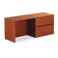 10500 Series Credenza w/Right Lateral File, 72w x 24d x 29-1/2h, Bourbon Cherry