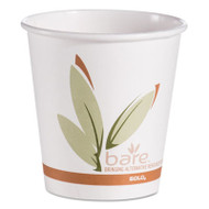 Bare by Solo Eco-Forward Recycled Content PCF Hot Cups, Paper, 10 oz, 1000/Ctn