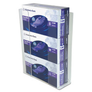 Wall-Mount Glove Box Holder, 3-Box, Acrylic, Clear, 11 x 3 1/2 x 14 1/2