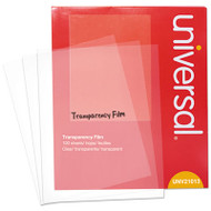 Transparent Sheets, Write-On-Only, Letter, Clear, 100/Pack