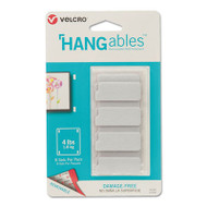 HANGables Removable Wall Fasteners, 0.25 x 4.5, White, 8/Pack