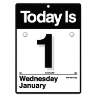 """Today Is"" Wall Calendar, 6 5/8 x 9 1/8, White, 2017"