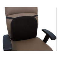 Cooling Gel Memory Foam Backrest, 14 1/8 x 14 1/8 x 2 3/4, Black