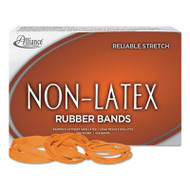 Non-Latex Rubber Bands, Sz. 64, Orange, 3 1/2 x 1/4, 380 Bands/1lb Box