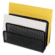 Urban Collection Punched Metal Letter Sorter, 6 1/2 x 3 1/4 x 5 1/2, Black