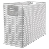 Urban Collection Punched Metal Desktop File, 13 x 5 3/4 x 10 3/4, White