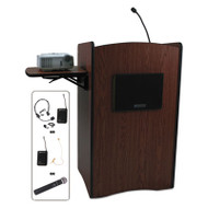 Multimedia Smart Computer Wireless Lectern, 25-1/2w x 20-1/4d x 43-1/2h,Mahogany