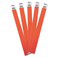 Crowd Management Wristbands, Sequentially Numbered, 10 x 3/4, Red, 100/Pack