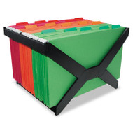 Letter/Legal Hanging File Rack, Plastic, 16 x 12 x 10 3/4, Black