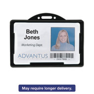 Horizontal ID Card Holders, 3 3/8 x 2 1/8, Black, 25 per Pack