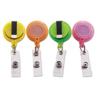 "Deluxe Retractable ID Card Reel, 30"" Extension, Assorted Colors, 20/Pack"