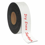 "Dry Erase Magnetic Tape Roll, White, 2"" x 50 Ft."