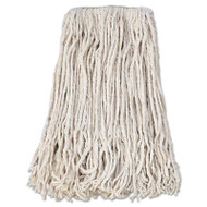 Banded Cotton Mop Head, #24, White, 12/Carton