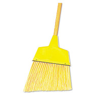 "Angler Broom, Plastic Bristles, 42"" Wood Handle, Yellow"