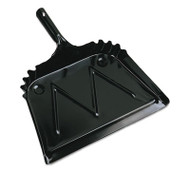 "Metal Dust Pan, 12"" Wide, 2"" Handle, Black"