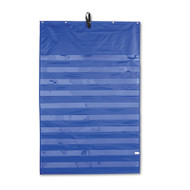 Essential Pocket Chart, 10 Clear & 1 Storage Pocket, Grommets, Blue, 31 x 42