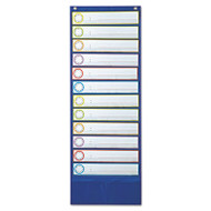 Deluxe Scheduling Pocket Chart, 12 Pockets, 13 x 36