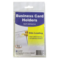 Self-Adhesive Business Card Holders, Side Load, 3 1/2 x 2, Clear, 10/Pack