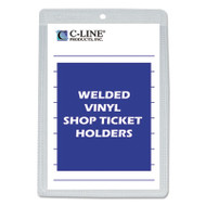 "Clear Vinyl Shop Ticket Holder, Both Sides Clear, 25"", 5 x 8, 50/BX"