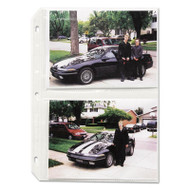 Clear Photo Pages for Four 5 x 7 Photos, 3-Hole Punched, 11-1/4 x 8-1/8