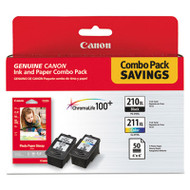 2973B004 (PGI-210XL/CL-211XL) High-Yield Ink/Paper Combo, Black/Tri-Color