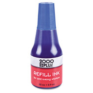 2000 PLUS Self-Inking Refill Ink, Blue, 0.9 oz. Bottle