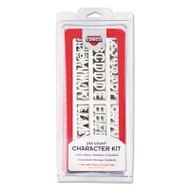 Character Kit, Letters, Numbers, Symbols, White, Helvetica, 258 Pieces