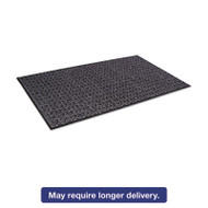 Tire-Track Scraper Mat, Needlepunch Polypropylene/Vinyl,36 x 60,Anthracite