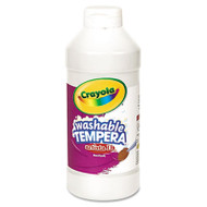 Artista II Washable Tempera Paint, White, 16 oz