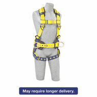 Full-Body Harness, Tongue Buckles, Side/Back D-Rings, Large, 420lb Capacity