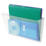 Stackable Wall File, Legal, One Pocket, Clear