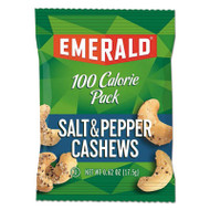 100 Calorie Pack Nuts, Salt & Pepper Cashews, 0.62 oz Pack, 12/Box