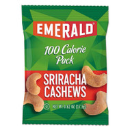 100 Calorie Pack Nuts, Sriracha Cashews, 0.62 oz Pack, 7/Box