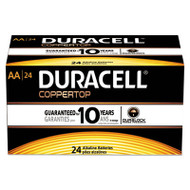 CopperTop Alkaline Batteries with Duralock Power Preserve Technology, AA, 24/Box
