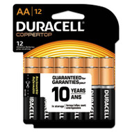 CopperTop Alkaline Batteries with Duralock Power Preserve Technology, AA, 12/Pk