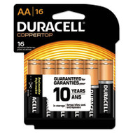 CopperTop Alkaline Batteries with Duralock Power Preserve Technology, AA, 16/Pk