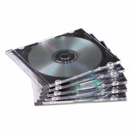 Slim Jewel Case, Clear/Black, 50/Pack
