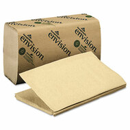 1 Fold Paper Towel, 10 1/4 x 9 1/4, Brown, 250/Pack, 16 Packs/Carton