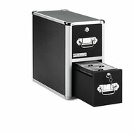 2-Drawer CD File Cabinet, Holds 330 Folders or 120 Slim/60 Standard Cases, Black