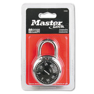 "Combination Lock, Stainless Steel, 1 15/16"" Wide, Black Dial"