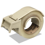 """Compact and Quick Loading Dispenser for Box Sealing Tape, 3"""" Core, Plastic, Gray"""