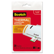 Business Card Size Thermal Laminating Pouches, 5 mil, 3 3/4 x 2 3/8, 20/Pack